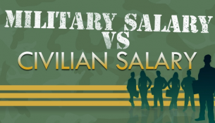 military vs civilian salary infographic